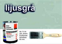 LICHTGRAU / Schwedenfarbe Öljefärg / Holzdeckfarbe