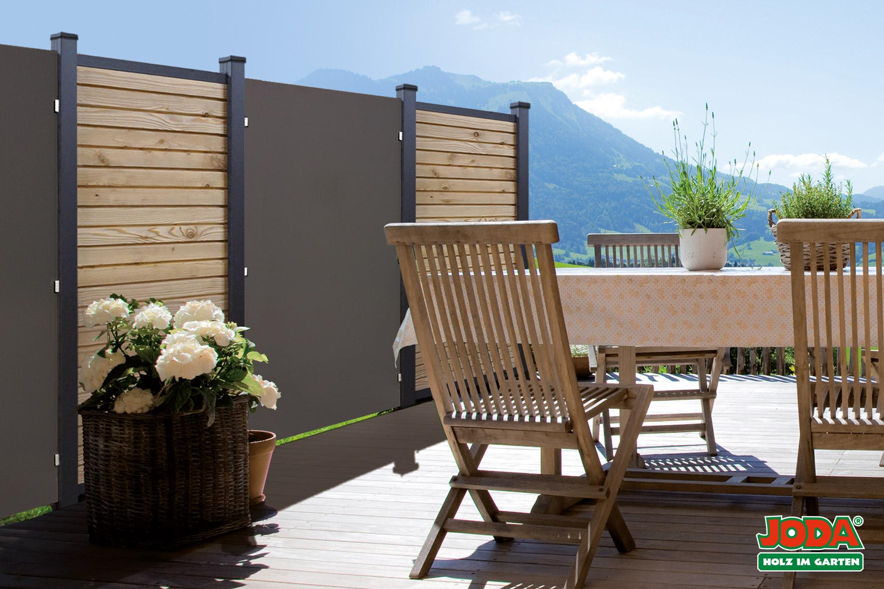 sichtschutz kingston systemzaun hpl 90 183 cm 120 183 cm 195 182 5 cm holz wohnen. Black Bedroom Furniture Sets. Home Design Ideas