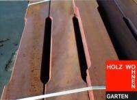 Luftschlitzfräsung für Stallbohlen aus Bongossi