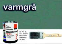 WARMGRAU-OLIVGRAU / Schwedenfarbe Öljefärg / Holzdeckfarbe