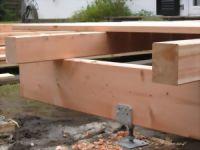 Douglasie Terrasse Unterkonstruktion. 45*70 mm
