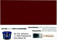 VESTLANDSRØD   Jotun DEMIDEKK Ultimate Täckfärg   Holzfarbe
