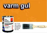 WARMGELB-SONNENGELB / Schwedenfarbe Öljefärg / Holzdeckfarbe