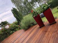 Bangkirai-Terrassendiele, 25*145 mm; glatt gehobelt / fein geriffelt