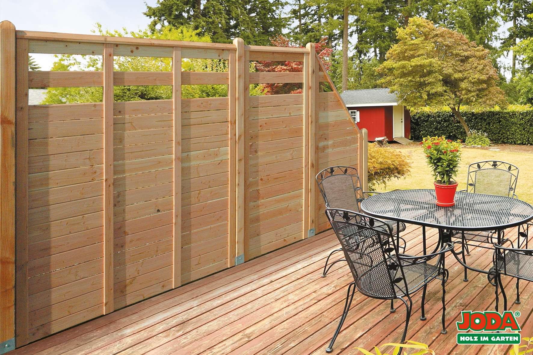 Schön Sichtschutz Garten Holz Design