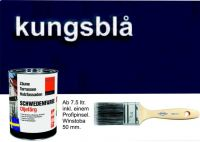 KÖNIGSBLAU / Schwedenfarbe Öljefärg / Holzdeckfarbe