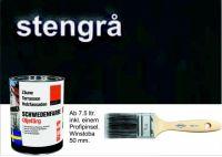 DUNKELGRAU / Schwedenfarbe Öljefärg / Holzdeckfarbe