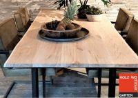 Eiche Tischplatte mit Naturkante, 30 mm